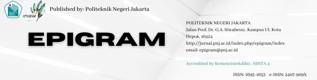Jurnal Epigram Politeknik Negeri Jakarta